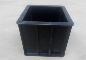 concrete plastic cube mould 100mm3