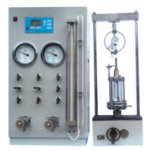 manual Strain-controlled triaxial testing apparatus