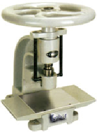 Manual round sample cutter