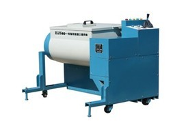 Concrete forcing type double horizontal lab mixer