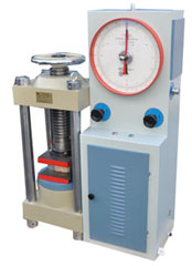 Analog hydraulic compression testing machine