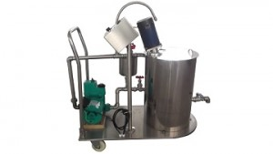 self suction cyclic fluids mixer