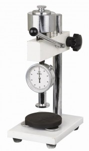 Shore durometer stand